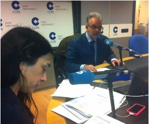 Lirón en COPE Madrid en el Programa «La Mañana» con Pilar Cisneros
