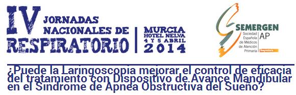 Liron en 4ª Jornada Respiratorio SEMERGEN Murcia 4 y 5 de Abril 2014