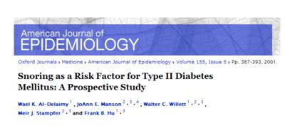El ronquido es un factor de riesgo para la Diabetes tipo II