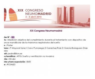 Liron en el Congreso NeumoMadrid 3 de Abril